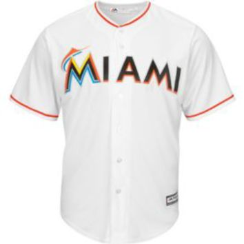 Majestic Men's Replica Miami Marlins Giancarlo Stanton #27 Cool Base Home White Jersey | DICK'S Sporting Goods