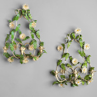 Urban Outfitters - Vintage Daisy Sconce - Set Of 2