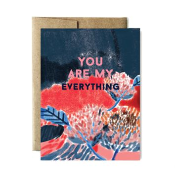 FERME A PAPERIE YOU ARE MY EVERYTHING FLOWERS CARD