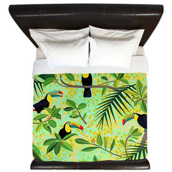 Tropical King Duvet Cover - Toucans - Ornaart Design