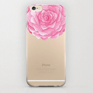 Flower iPhone 6 Case Pink iPhone 6s Rose Blooming Design Floral Phone Cover Snap On Plastic Protection Birthday Gift iPhone 6s Plus Cute