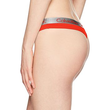 """Calvin Klein"" Women's Cotton Thong"