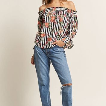 Smocked Off-the-Shoulder Top - Women - 2000279310 - Forever 21 Canada English
