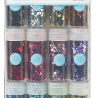 Hexagonal Glitter 12-pack