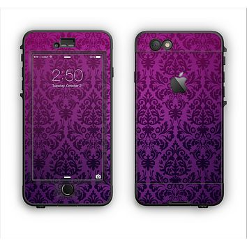 The Purple Delicate Foliage Pattern Apple iPhone 6 Plus LifeProof Nuud Case Skin Set