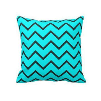 Turquoise Zigzag Pillows from Zazzle.com