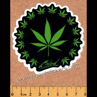 Blind Weed Leaf Skateboard Sticker
