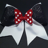 3in Minnie Mouse Cheer Bow by BowsByTeri on Etsy