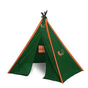 Miami Hurricanes Teepee Play Tent