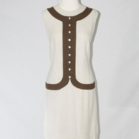 Vintage 1960s Mod Shift Dress Flapper 1920s Style Bonnie and Clyde
