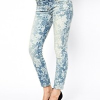 Free People Printed Skinny Jeans in Hawaiian Floral at asos.com