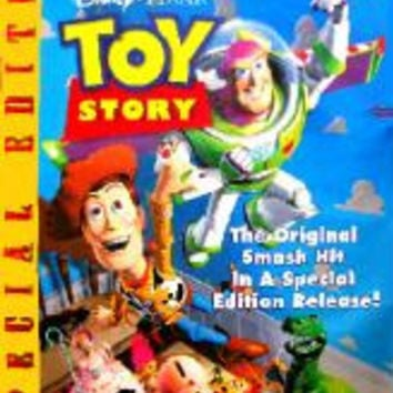 Toy Story Special Edition Movie Poster 27x40 Used Walt Disney Pixar Wallace Shawn, Laurie Metcalf, Tim Allen, Shane Sweet, Jim Varney, Greg Berg, Erik von Detten, Penn Jillette, Don Rickles, Ryan O'Donohue, Phil Proctor, Sarah Freeman, Tom Hanks