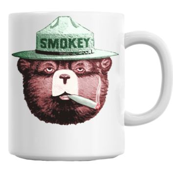 Wake & Bake Smokey Bear Coffe Mug