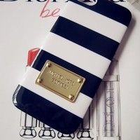 Pennywise07 Blue/white Stripe Iphone 4, 4s Case Cover, New in Box