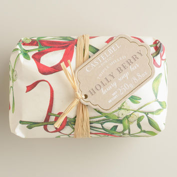 Castelbel Vintage Christmas Holly Berry Bar Soap - World Market