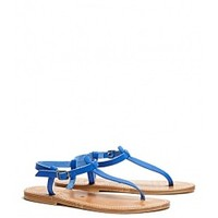 ASOS Fashion Finder | Blue Picon Leather Thong Sandals by K Jacques