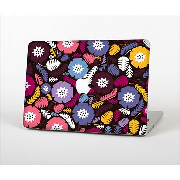 "The Colorful Hugged Vector Leaves and Flowers Skin Set for the Apple MacBook Pro 13"" with Retina Display"