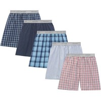 Fruit of the Loom Big Men's Soft Stretch Waistband Woven Boxers, 5-Pack - Walmart.com