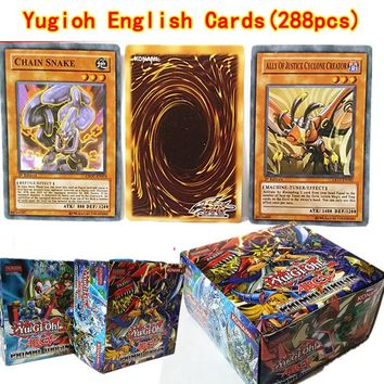 288pcs/set Anime Japan yugioh Game Cards Carton Game Cards Japan Children Yu-Gi-Oh Cards Collection For Fun Christmas Gift Toys