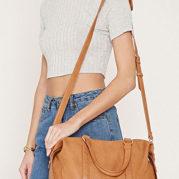 Faux Leather Satchel | Forever 21 - 1000153133
