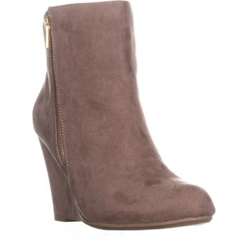 Report Russi Closed Toe Ankle Platform Boots, Taupe, 8.5 US
