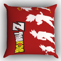 Dragonball Z Super Saiyan Evolution Z0246 Zippered Pillows  Covers 16x16, 18x18, 20x20 Inches
