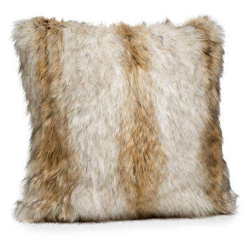 Russian Wolf Faux Fur Pillows by Fabulous Furs