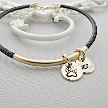 Memorial Bracelet, Pet Memorial Bracelet, Pet Remembrance Bracelet, Memorial Jewelry, Loss Of Pet, Loss Of Dog, Personalized, Dog Paw Print