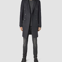 ALLSAINTS US: Mens Vasari Coat (INK NAVY)