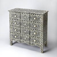 Bone Inlay Black Bone Inlay Drawer Chest