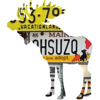 Maine License Plate Moose