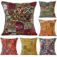 "LARGE SELECTION - 24"" DECORATIVE PILLOW CUSHION COVER Bohemian Indian Boho"