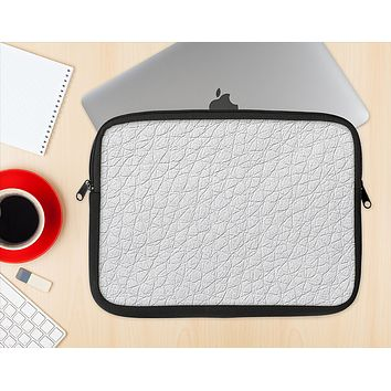 The White Leather Texture Ink-Fuzed NeoPrene MacBook Laptop Sleeve