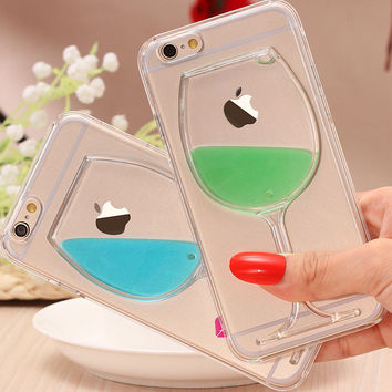 Newest Wine Glass TPU iPhone  6 6s Plus Case Cover Gift