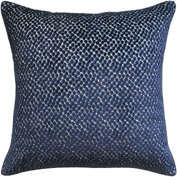 Velvet With Contrast Piping Decorative Pillow