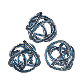Lazy Susan Navy Blue Glass Knot