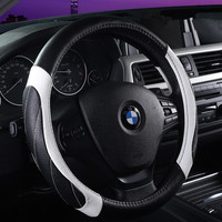 2016 Trending Fashion Hot Popular Classy Durable Non-slippery Leather Fiber Car Steering Wheel Cover _ 3561