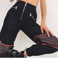 High Waisted Meshed Sport Trouser