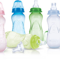 3-pack 10 oz. non-drip baby bottles with spout Case of 24