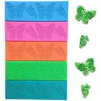 1 Pcs Butterfly Silicone Fondant Mold Lace Wedding Cake Decorating Tools Mould