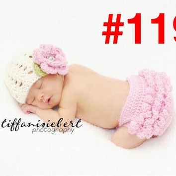 Princess baby Animal Costume Set handmade Children Knit crochet photography props hats Newborn  baby clothing