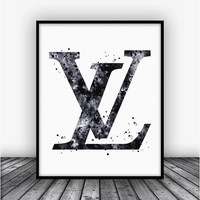 Louis Vuitton Logo Art Print Poster