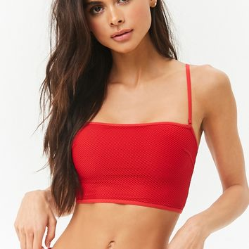 Mesh Straight-Neck Bralette