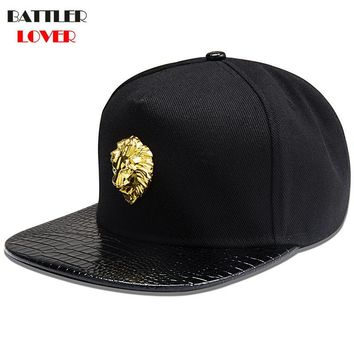 Trendy Winter Jacket 2018 Hot Lion Logo Baseball Cap Men Cotton Denim Jean Hat Mens DJ Street Dance Hip Hop Snapback Caps Mans Breaking Gorras Hombre AT_92_12