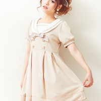 -Reservation-[bear button sailor collar classical one piece | DM | PR | |] ◆ 4/28 ships planned
