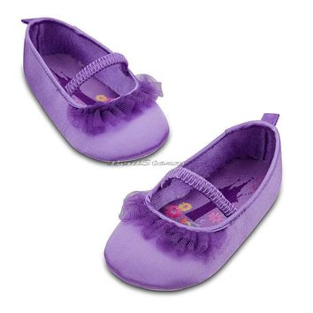 Licensed cool NEW DISNEY STORE TANGLED PRINCESS RAPUNZEL COSTUME BABY SHOES SLIPPERS 24 MONTHS