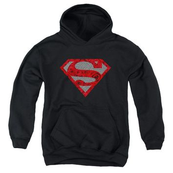 Superman - Elephant Rose Shield Youth Pull Over Hoodie