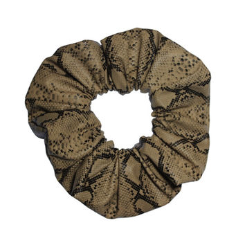 Snakeskin Faux Leather Scrunchies Ponytail Holder (Free Shipping) Hair Accessories Made in USA