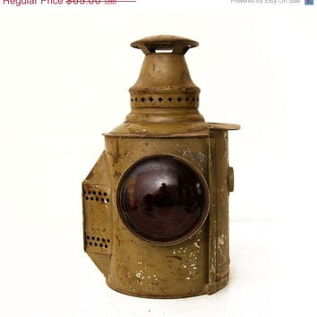 33% OFF SALE SALE Vintage Antique Adlake Lantern Lamp, As Found, Red Lens