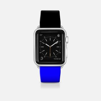 Black and blue - Bicolor collection Apple Watch Band (42mm)  by WAMDESIGN | Casetify